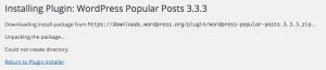 osx xampp wordpress ftp install error directory