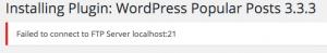 osx xampp wordpress ftp install error title