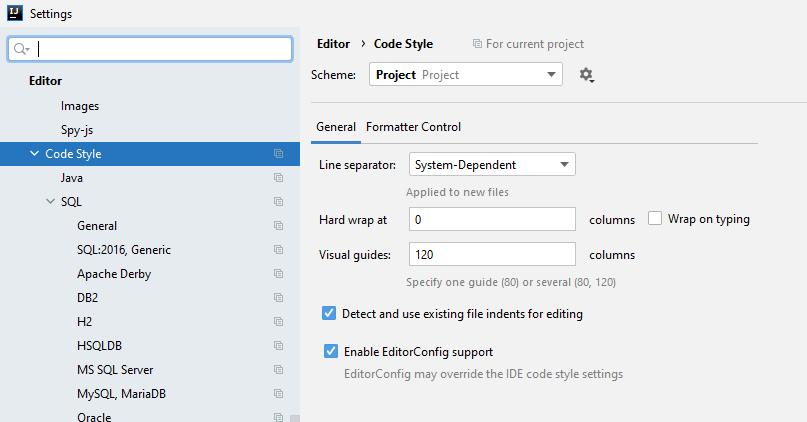 IntelliJ soft-wrap editor code style