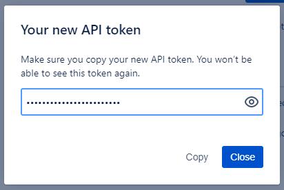 Jira new API token