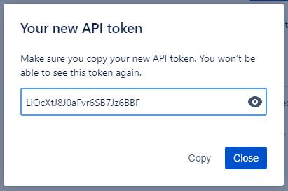 New token plaintext