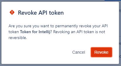 Revoke API token