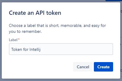 Jita API token for IntelliJ name